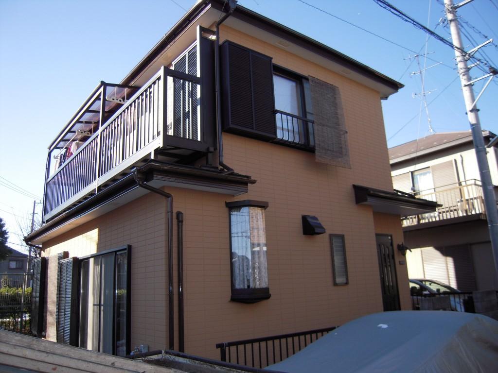 大和市のH様邸 木造一戸建て|外壁・屋根塗装(断熱セラミックガイナ使用)