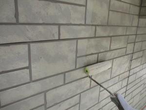 外壁のクリア塗装 1回目